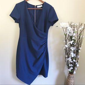 Bisou Bisou Women's Blue Ruched Textured Dress 12